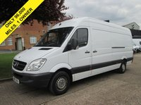 USED 2013 13 MERCEDES-BENZ SPRINTER 2.1 313CDI LWB HIGH ROOF. 129 BHP. ONLY 96K. FSH. 1 OWNER. 6 SERVICES. FINANCE £150 P/M. FULL MOT. BIG CHOICE. PX