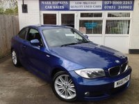 USED 2011 61 BMW 1 SERIES 2.0 120D M SPORT 2d 175 BHP **52K FSH  ONE FAMILY OWNER**DAB RADIO**EXCELLENT CONDITION THROUGHOUT**