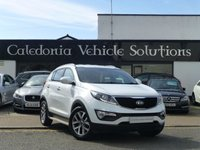 USED 2014 14 KIA SPORTAGE 1.7 CRDI WHITE EDITION ISG 5d 114 BHP ONE LADY OWNER with FULL SERVICE HISTORY & 12 MONTHS MOT