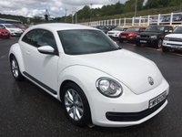 USED 2013 63 VOLKSWAGEN BEETLE 1.2 TSI DSG 3d AUTO 103 BHP Touch screen Sat Nav, Media, Bluetooth, DAB plus more. Only 25,000 miles