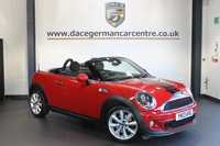 USED 2013 13 MINI ROADSTER 1.6 COOPER S 2DR CHILI PACK 181 BHP + HALF BLACK LEATHER INTERIOR  + FULL BMW SERVICE HISTORY + BLUETOOTH + XENON LIGHTS + CRUISE CONTROL + DAB RADIO + PARKING SENSORS + 17 INCH ALLOY WHEELS +
