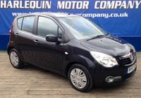 USED 2010 10 VAUXHALL AGILA 1.2 CLUB AC 5d 85 BHP METALLIC BLACK VAUXHALL AGILA 1.2 CLUB PLUS AIR CON FULL SERVICE HISTORY LOW MILES