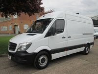 USED 2014 14 MERCEDES-BENZ SPRINTER 2.1 313CDI MWB HIGH ROOF 129 BHP. LOW 65,000 MILES. FSH. 1 OWNER. PX FSH. LOW RATE FINANCE. PX WELCOME. CLEAN EXAMPLE.