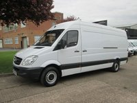 USED 2013 63 MERCEDES-BENZ SPRINTER 2.1 313CDI LWB HIGH ROOF. LOW 67K. FSH. 1 OWNER.  1 OWNER. 4 SERVICES.  LOW RATE FINANCE £194 P/M. CHOICE OF 20. PX