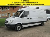 USED 2013 63 MERCEDES-BENZ SPRINTER 2.1 313CDI LWB HIGH ROOF 129BHP. FSH. 1 OWNER. 10 SERVICES 1 OWNER. 10 SERVICES.  LOW RATE FINANCE £194 P/M. CHOICE OF 20. PX