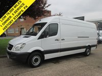 USED 2013 63 MERCEDES-BENZ SPRINTER 2.1 313CDI LWB HIGH ROOF. LOW 76K. FSH. 1 OWNER. 1 OWNER. 5 SERVICES. LOW RATE FINANCE. PX WELCOME. FSH.