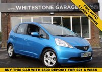 USED 2011 60 HONDA JAZZ 1.3 I-VTEC ES I-SHIFT 5d AUTO 98 BHP ONE LADY OWNER FSH AUTOMATIC, RETRACTABLE MIRRORS, AIR COND,