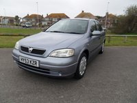 2003 VAUXHALL ASTRA 1.6 CLUB 8V 5d 85 BHP £SOLD
