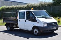 USED 2012 62 FORD TRANSIT 2.2 350 DRW 2d 125 BHP EURO 5 D/CAB TWIN WHEEL LWB COMBI TIPPER ONE OWNER F/SH SPARE KEY