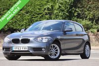USED 2013 63 BMW 1 SERIES 1.6 116D EFFICIENTDYNAMICS 3d 114 BHP 1 Gent Owner + S*H