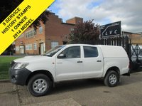 USED 2014 63 TOYOTA HI-LUX 2.5 HL2 4X4 D-4D DOUBLE CAB PICK UP TRUCK. 144 BHP. FACELIFT MODEL 1 OWNER. FULL SERVICE HISTORY. EXPORT. FINANCE. SHIPPING