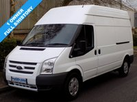 USED 2012 12 FORD TRANSIT 2.2 FWD 350 LWB HIGH ROOF 125 BHP 6 SPEED 1 Owner, Full Service History