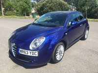 USED 2013 63 ALFA ROMEO MITO 1.2 JTDM-2 SPRINT 3d 85 BHP STUNNING COLOUR SCHEME VIVID BLUE MET TWO TONE SPORTS SEATS WITH FSH