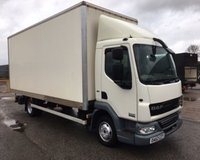 USED 2012 62 DAF TRUCKS LF 4.5 FA 45.160 7.5 TONNE, 20FT GRP BOX BODY WITH CANTILEVER LIFT