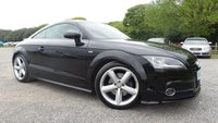 USED 2011 11 AUDI TT 2.0 TDI QUATTRO S LINE 2d 170 BHP F/S/H, CAMBELT CHANGED 02/02/2017, FULL BLACK LEATHER, ALLOYS, AIR-CON, REAR SPOILER