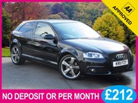 USED 2011 11 AUDI A3 2.0 TDI QUATTRO S LINE BLACK EDITION 3dr 168 BHP 4x4 XENONS BOSE BLACK PACK