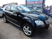 USED 2008 08 MERCEDES-BENZ M CLASS 3.0 ML320 CDI SPORT 5d AUTO 222 BHP 1/2 LEATHER INTERIOR, ALLOYS, SAT NAV, F.S.H