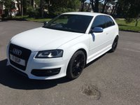 USED 2010 60 AUDI A3 2.0 S3 QUATTRO 3d AUTO 265 BHP 1 OWNER S3 IN WHITE WITH FULL 2 TONE BLACK AND RED LEATHER FULL AUDI SERVICE HISTORY SAT NAV