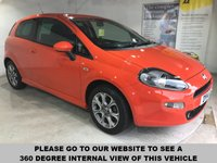 USED 2014 14 FIAT PUNTO 1.2 GBT 3d 69 BHP Full service history, Just one previous owner, Bluetooth, Rear parking sensors, 16-inch alloy wheels