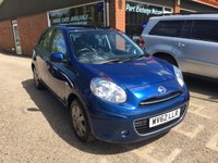 USED 2012 62 NISSAN MICRA 1.2 ELLE 5d AUTO 79 BHP ONLY 8900 MILES IN MET BLUE APPROVED CARS ARE PLEASED TO OFFER THIS  NISSAN MICRA 1.2 ELLE 5 DOOR AUTOMATIC 79 BHP WITH ONLY 8900 MILES FROM NEW IN MET BLUE,THIS CAR HAS A MASSIVE SPEC INCLUDING A/C,SAT-NAV.REAR PARKING SENSORS,ELECTRIC SUNROOF,CRUISE CONTROL,ALARM,ABS,2 KEYS AND BLUETOOTH INCLUDING A FULL SERVICE HISTORY AND AN AUTOMATIC GEARBOX WITH THIS LOW MILES THIS CAR IS A ONE OFF.