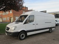 USED 2013 63 MERCEDES-BENZ SPRINTER 2.1 313CDI LWB HIGH ROOF. 1 OWNER. 4 SERVICES. BIG CHOICE. LOW RATE FINANCE. 2 YEAR WARRANTY AVAILABLE. PX WELCOME