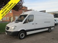 USED 2013 63 MERCEDES-BENZ SPRINTER 2.1 313CDI LWB HIGH ROOF. 1 OWNER. 9 SERVICES. PX 1 OWNER. LOW RATE FINANCE FROM £151 P/MONTH. PX WELCOME.