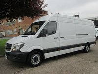 USED 2014 64 MERCEDES-BENZ SPRINTER 2.1 313CDI LWB HIGH ROOF. 1 OWNER. LOW 46,000 MILES. 3 SERVICES. 4 MONTHS MERC WARRANTY. LOW RATE FINANCE. PX