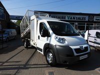 2012 PEUGEOT BOXER 3.0 HDI  CAGED TIPPER EX COUNCIL WITH FSH 180BHP WITH TOOL STORE £7495.00