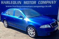 USED 2007 57 SKODA OCTAVIA 2.0 VRS 5d 168 BHP STUNNING IN RACE BLUE METALLIC SKODA OCTAVIA VRS TURBO DIESEL GREY AND WHITE LEATHER INTERIOR FULL SERVICE HISTORY INC..CAMBELT ALLOYS SPORTS PERFORMANCE WITH ECONOMY