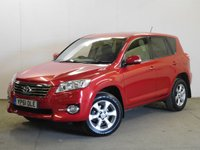 USED 2011 61 TOYOTA RAV4 2.2 XT-R D-4D 5d 150 BHP 4WD LEATHER PRIVACY FSH 4WD. FACELIFT MODEL. STUNNING RED MET WITH PART BLACK LEATHER TRIM. ELECTRIC HEATED SEATS. CRUISE CONTROL. 17 INCH ALLOYS. COLOUR CODED TRIMS. PRIVACY GLASS. BLUETOOTH PREP. CLIMATE CONTROL. R/CD PLAYER. 6 SPEED MANUAL. MFSW. MOT 05/18. ONE PREV OWNER. FULL SERVICE HISTORY. PRISTINE CONDITION. FCA FINANCE APPROVED DEALER. TEL 01937 849492.