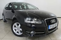 USED 2012 12 AUDI A3 2.0 SPORTBACK TDI SE S/S 5DR AUTOMATIC 168 BHP FULL SERVICE HISTORY + 0% FINANCE AVAILABLE T&C'S APPLY + PARKING SENSOR + MULTI FUNCTION WHEEL + RADIO/CD + 16 INCH ALLOY WHEELS