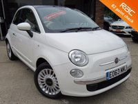 USED 2013 63 FIAT 500 1.2 LOUNGE 3d 69 BHP 2 LADY OWNERS, PANORAMIC ROOF, AIR CON, ALLOYS, £20 ROAD TAX, FULL SERVICE HISTORY, SPARE KEY