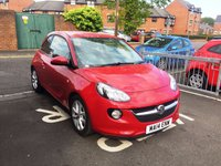 USED 2014 14 VAUXHALL ADAM 1.2 JAM 3d 69 BHP 7268 MILES ONLY!! BLUETOOTH!!..AUXILLIARY INPUT!!...AIR CONDITIONING!!...DAB!!..EXCELLENT FUEL ECONOMY!!..LOW CO2 EMISSIONS!!..FULL HISTORY!!