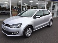 USED 2014 14 VOLKSWAGEN POLO 1.2 MATCH EDITION 5 DOOR FULL V.W. SERVICE HISTORY