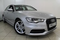 USED 2012 62 AUDI A6 2.0 TDI S LINE 4DR 175 BHP SERVICE HISTORY + LEATHER SEATS + SAT NAVIGATION + PARKING SENSORS + BLUETOOTH + CRUISE CONTROL + MULTI FUNCTION WHEEL