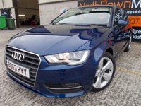 USED 2014 63 AUDI A3 2.0 TDI SPORT 5d 148 BHP Excellent Condition, One Owner, FSH, Low Rate No Fee Finance Available