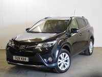 USED 2013 13 TOYOTA RAV4 2.2 D-4D INVINCIBLE 5d AUTO 150 BHP 4WD FACELIFT SAT NAV LEATHER PRIVACY ONE OWNER FSH 4WD. SATELLITE NAVIGATION. FACELIFT MODEL. STUNNING BLACK MET WITH FULL BLACK LEATHER TRIM. ELECTRIC HEATED SEATS. CRUISE CONTROL. 18 INCH ALLOYS. COLOUR CODED TRIMS. PRIVACY GLASS. PARKING SENSORS. REVERSING CAMERA. ELECTRIC TAILGATE. BLUETOOTH PREP. CLIMATE CONTROL. R/CD PLAYER. MFSW. PADDLESHIFT AUTO. MOT 05/18. ONE OWNER FROM NEW. FULL SERVICE HISTORY. PRISTINE CONDITION. FCA FINANCE APPROVED DEALER. TEL 01937 849492.
