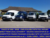 2010 FORD TRANSIT CHOICE OF 10 SWB, MWB, LWB WITH SERVICE HISTORY £5295.00