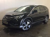 USED 2013 62 HONDA CR-V 2.2 I-DTEC SR 5d AUTO 148 BHP 4WD FACELIFT SAT NAV LEATHER ONE OWNER FSH 4WD. FACELIFT AUTO MODEL. SATELLITE NAVIGATION. STUNNING BLACK MET WITH PART BLACK LEATHER TRIM. HEATED SEATS. CRUISE CONTROL. 18 INCH ALLOYS. COLOUR CODED TRIMS. PRIVACY GLASS. PARKING SENSORS. BLUETOOTH PREP. CLIMATE CONTROL. R/CD PLAYER. PADDLESHIFT AUTO. MFSW. MOT 02/18. ONE OWNER FROM NEW. FULL SERVICE HISTORY. PRISTINE CONDITION. FCA FINANCE APPROVED DEALER. TEL 01937 849492.