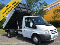USED 2011 61 FORD TRANSIT 100 T350m Tipper 10.5ft Alloy body Drw Low Mileage Free UK Delivery