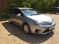 USED 2014 14 TOYOTA AVENSIS 1.8 VALVEMATIC ACTIVE 5d 147 BHP Bluetooth, 6 Speed. 1 Owner