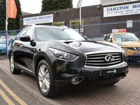 USED 2014 14 INFINITI QX70 3.0 S PREMIUM D 5d AUTO  MULTIMEDIA PACK ~ BOSE SOUNDS ~ 360 CAMERA ~ LANE ASSIST ~ COMFORT SEATING ~ DISTANCE CONTROLLED CRUISE CONTROL ~ UNBELIEVABLE SPECIFICATION