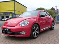 "USED 2012 12 VOLKSWAGEN BEETLE 1.4 SPORT TSI 3d 158 BHP HUGE SPEC ~ PANORAMIC ROOF ~ FULL HEATED LEATHER ~ SAT NAV ~ LIGHT PACK ~ 18"" TWO TONE ALLOYS ~ DAB ~"
