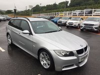 USED 2008 08 BMW 3 SERIES TOURING 320D M SPORT ESTATE 175 BHP Black Suede M-Sports seats, full M-Sport body, interior & alloys, Professional CD Hi-Fi with Aux media