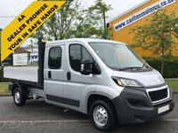 USED 2015 15 PEUGEOT BOXER 2.2 HDI 335 L3 Crew Cab 7s Dropside Low Mileage Free UK Delivery