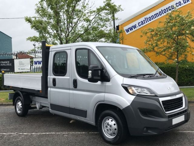 2015 15 PEUGEOT BOXER 2.2 HDI 335 L3 Lwb Crew Cab 7s Dropside Low Mileage Free UK Delivery