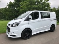 2015 FORD TRANSIT CUSTOM 2.2 290 LR DCB 125 BHP RS STYLING PACK AIR CON  £15995.00