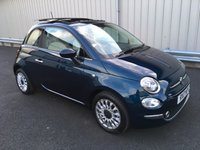 USED 2017 17 FIAT 500 1.2 LOUNGE DUALOGIC SEMI-AUTO 69 BHP 160 MILES ONLY, SERVICE PACKAGE, VERY HIGH SPEC!