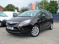 USED 2016 16 VAUXHALL ZAFIRA TOURER 1.4 TURBO DESIGN 5d 138 BHP ++ SEVEN SEATS/BLUE TOOTH ++