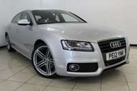 USED 2012 12 AUDI A5 2.0 SPORTBACK TDI S LINE 5DR 168 BHP AUDI SERVICE HISTORY + HEATED LEATHER SEATS + 0% FINANCE AVAILABLE T&C'S APPLY + CLIMATE CONTROL + PARKING SENSOR + BLUETOOTH + MULTI FUNCTION WHEEL + 18 INCH ALLOY WHEELS